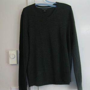 Men's Banana Republic Dark Green Merino Sweater